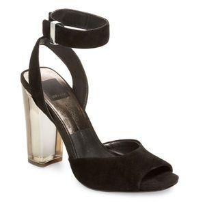 🌸 *nwt* dolce vita black suede high heel sandal